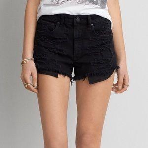 American Eagle hi rise festival cutoff shorts